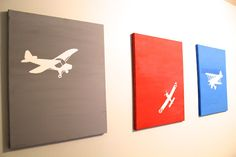 -everywhere beautiful-: Easy Airplane Art for Little Boys Room