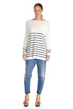 #twistedmuse #spring #breton #stripes #white #black #fashion #ss14 www.alceshop.com