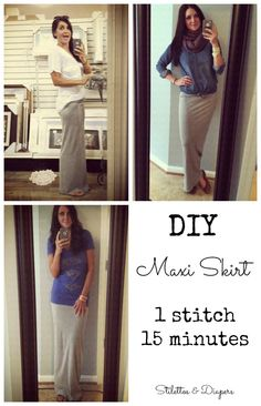 Easy DIY Maxi Skirt