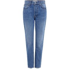 Derek Lam 10 Crosby - Lou High-Rise Straight-Leg Jeans (3.053.825 IDR) ❤ liked on Polyvore featuring jeans, high rise denim jeans, high waisted jeans, denim jeans, straight leg jeans and highwaist jeans
