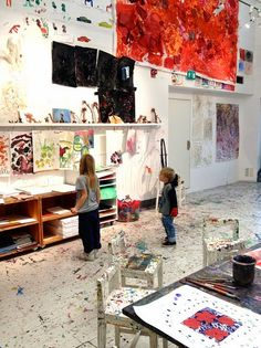 The Architecture of Early Childhood  open big space for art studio