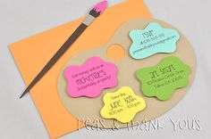 Art Palette Painting Party Birthday Invitations for Girls