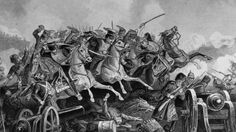 The Battle Of Balaclava Haro Prii, Crimea, 25 October Charge Of The Light Brigade. From The Age We Live In, A History Of The Nineteenth Century Poster Print x Battle Of Balaclava, Fun Prints, Poster Prints, Crimean War, British History, Weapons, Victorian, Painting, Baron