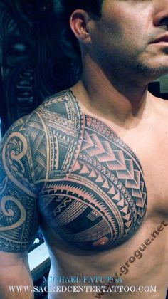 Maori Chest and Shoulder Tattoo – Tattoos