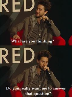 Jared leto of 30 seconds to mars .  too funny