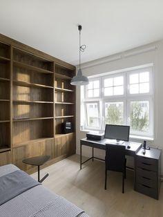 vestavěný nábytek, pěkná práce s dýhou... byt u vodárny — A1
