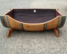 These adorable dog beds are handcrafted by Barrel-Art in Norfolk, VA out of authentic European wine barrels. I think I know what my sweet golden retriever Sophie is getting for Christmas! For more wine inspiration visit www.crystalpalate.com