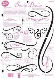 Gorgeous in Bible margins! Kids love stencils too Hot Off The Press 8-1/2 Inch x11 Inch Templates - Swirly Doodles Easy way add swirls and doodles to your Bible journaling pages, scrapbook pages and other papercrafts? Simply position your chosen design on paper and trace with a .08 Zig Millennium, then remove the template and connect the lines. You can trace just the edges, or trace and fill in the design with a brush marker. Layer the swirls as shown on the template or use them individually.