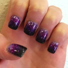 Mix between Shellac, Acrylic, and glitter! Love my nails!