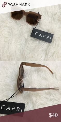 ✨NEW! beige capri vintage style sunnies✨ new brand: capri style: vintage/retro                                                    color: beige flat top/square bottom amazing premium quality 100% uv protection hand polished frame celebrity style  ✖️no trades ✖️price firm ✔️free shipping on my website www.joslyncapri.com   want to be featured on instagram & twitter? tag photos with @joslyncapri #shopcapri for a chance to be featured! 😊 C A P R I Accessories Sunglasses