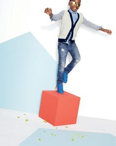 J.Crew cotton-cashmere colorblock cardigan worn with the vintage chambray shirt and slim jean in well worn wash. Love what you see? Our Very Personal Stylist team can help you pre-order the looks before they become available on Wednesday 29 January. Call 800 261 7422 or email erica@jcrew.com.