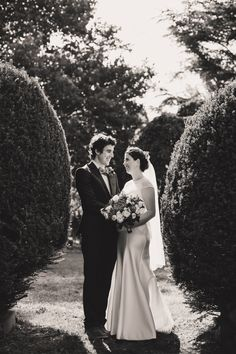 Bride & Groom. Topiary.