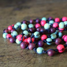 Acai Bead Necklace - Icecream Beaded Necklace by earlybirdcreations on Etsy