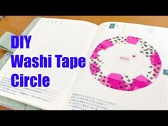 DIY Tutorial Washi Circle in your Notebook Washi Tape Diy, Life Affirming, Hobonichi, Book Of Life, Diy Tutorial, Don't Forget, Notebook, Journaling, Youtube