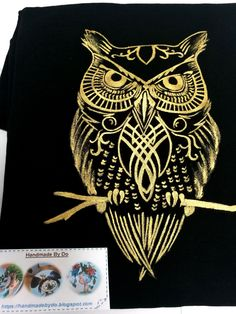 Hand painted Owl T-shirt/ Tricou pictat manual, bufniţă. Owl T Shirt, Hand Painted, Hands, Tattoos, Shirts, Owl Shirt, Tatuajes, Tattoo, Dress Shirts