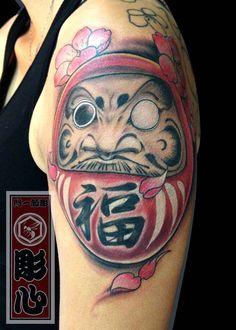 78e4a8475 Simple One Eye Daruma Doll Tattoo On Left Shoulder Daruma Doll Tattoo, Hand  Poke,