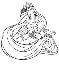 Printable Tangled Coloring Pages And Book To Print For Free Find More Online Kids Adults Of