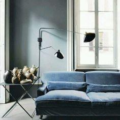 """J'adore. ... #interiordesign #antiquewithmodern#bluegrey"""