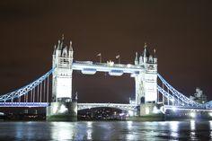 London's stunning Tower Bridge after dark