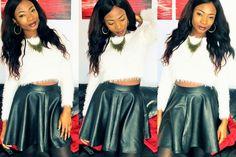 #allisbelle #fashion #jumper #leather #leatherskirt #topshop