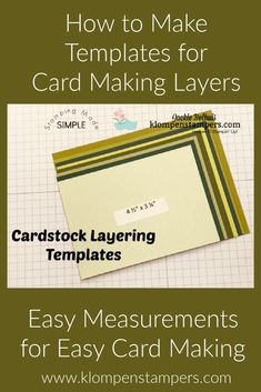 Do you struggle with knowing what size to cut your cardstock layers when making your handmade greeting cards? This template is a time saver and I walk you through step by step how to make your own template. Check out the tutorial. Don't forget to follow me so you can keep up with all the other ideas I share. Card Making Templates, Card Making Tips, Card Making Tutorials, Card Maker, Greeting Cards Handmade, Cardmaking, Create Yourself, Stampin Up, Card Stock