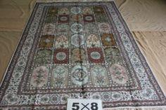 5'x8' Handmade Hand-knotted 450 kpsi Silk Oriental Persian Tabriz Rug B682