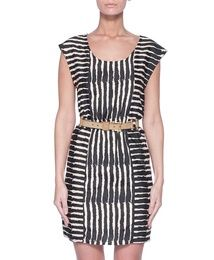 gorgeous dress! love the print, how it goes both directions