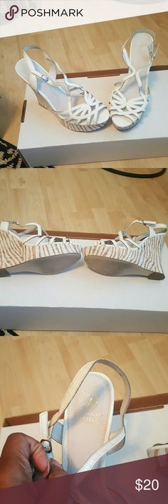 Strappy sandal Strappy summer sandal. Worn once. Patent Adrianna Papell Shoes Sandals