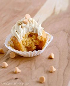 These Butterscotch Cupcakes are always a crowd pleaser. The butterscotch frosting is amazing!