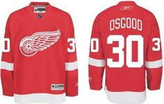 Osgood #30 Detroit Red Wings Reebok Premier Home Jersey - Medium by Reebok. $159.99. This officially licensed Premier Jersey from Reebok is made with a polyester pique 2-way stretch mesh body, solid mesh inserts for ventilation and a polyester interlock rib knit collar with the NHL Shield patch sewn at the point. The highly detailed, full color team crest is embroidered on front and the tackle twill sleeve numbers and appliqu player name and number are featured ...