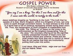 Gospel Power - Solemnity of Christ the King