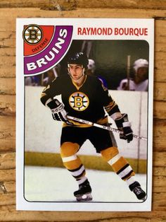 Hockey Cards, Baseball Cards, Ray Bourque, Boston Bruins Hockey, Boston Sports, Ice Hockey, Trading Cards, Nhl, Athlete