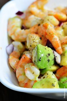Low Carb Recipes - Shrimp Avocado Salad