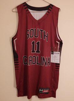 South Carolina Gamecocks Under Armour Mens NCAA Medium Basketball Jersey #11 #UnderArmour #SouthCarolinaGamecocks