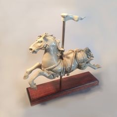 Carousel Horse, Jon Carlos Lopez Ceramic Sculpture Limited Edition Signed, Dated by EclecticsByChristine on Etsy