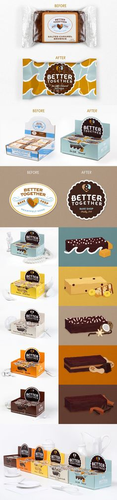 Antes & Depois  Designed by Chase Design Group l EUA Web Design, Logo Design, Graphic Design, Make Me Happy, Packaging Design, Retro Vintage, Typography, Packing, Cookies