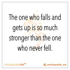 Don't judge your falls ... just learn from them and get stronger :)