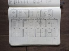 Sketches showing designs for a printed booklet
