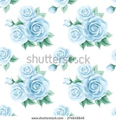 Vintage seamless pattern with roses. Vector illustration - stock vector