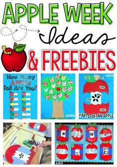 apple week | apple crafts | apple activities | apples in the classroom | apple freebies