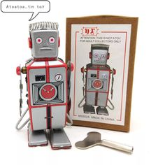 Look what I found on AliExpress Classic Ro, Vintage Silver, Retro Vintage, Tin Toys, Adult Children, Robot, Baseball Cards, Collection, China