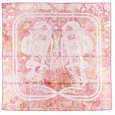 NEW Authentic Hermes Silk Scarf BRIDES DE GALA EN FINESSE pal Pink