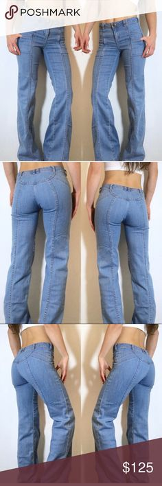 SUPER RARE Free People High rise Bell bottoms Amazing vintage appeal in these super hard to find Free People high waisted bell bottom jeans. The stitching is so on point 👌🏼Perfect condition 👌🏼Don't pass these up 😍 Free People Jeans Flare & Wide Leg