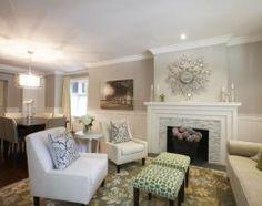 Edgecomb Grey Living Room Cozy