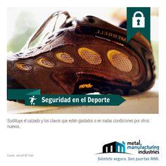 El consejo de #Seguridad en el Deporte de hoy recomienda sustituir el calzado y los clavos (o tacos) que estén gastados o en malas condiciones por otros nuevos. ¡Buen miércoles!