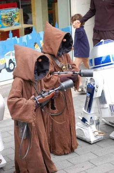 Jawa costumes for the girls at Haloween???