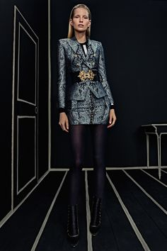 Balmain | Pre-Fall/Winter 2016 Ready-To-Wear Collection via Designer Olivier Rousteing | Modeled by ? | January 25, 2016; New York