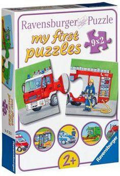 Ravensburger puzzle - vehicles (9x2 τεμ.)