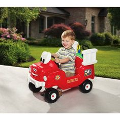 I will be getting this for my grandson. He can keep it at grandma's house and water the flowers.   Little Tikes Spray & Rescue Fire Truck