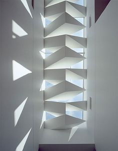 Skylight over stairwell at Yarra Bend House in Victoria, Australia by John Wardle Architects